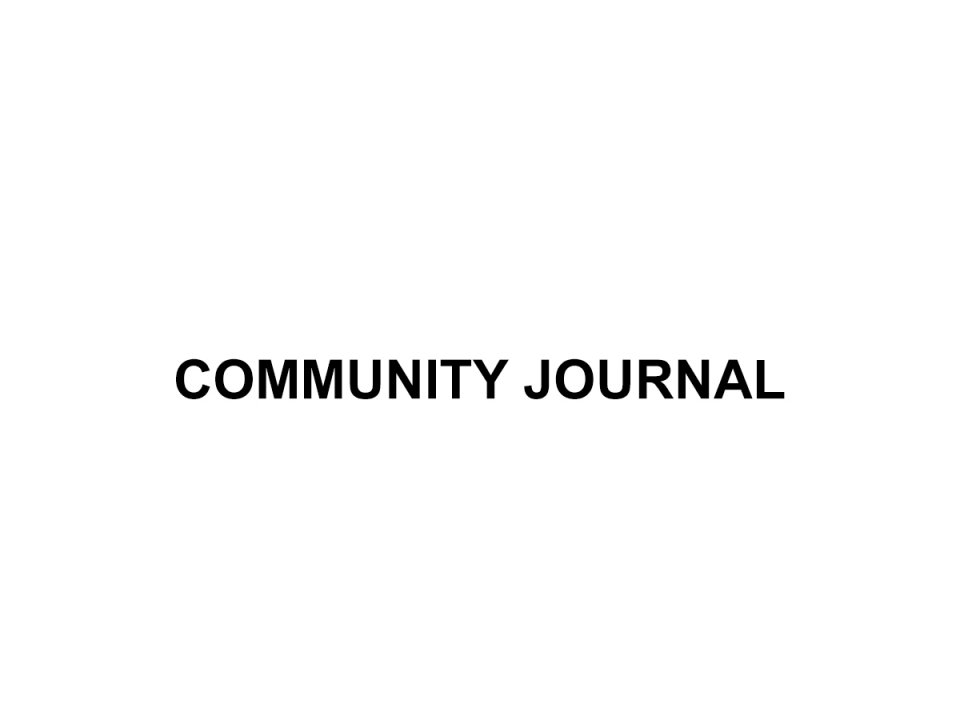 steve levy community journal